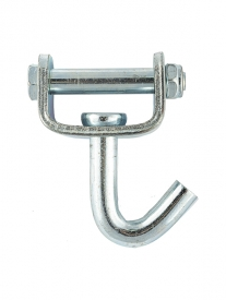 Ukončovací otočný hák o 360° v tvare J je určený pre upínacie pásy (gurtne) so šírkou maximálne 50 mm.