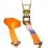 Upínací pás dvojdielny ERGO 5T s predĺženou račňou, Oranžová, STF 500 daN