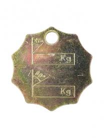 Identifikačný štítok sa používa pre označenie reťazových úväzkov, závesov.