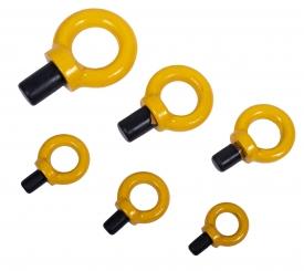 Závesné oko pevnostné so skrutkou DIN 580 8.8 v pevnostnej triede 8. Sú dostupné v nosnostiach od 0,4 T do 12 T