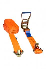 Gurtna 5T - Upínací pás s račňou dvojdielny s hrotovými hákmi