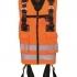 Celotelový postroj bezpečnostný FA1030300 s integrovanou reflexnou pracovnou vestou v oranžovej farbe.