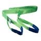 Zdvíhací popruh 2000 kg, Dvojvrstvový, Zdvíhací pás oko-oko, Zelený, Certifikovaný, typ B2.
