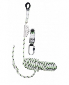 Pohyblivý zachytávač pádu s tlmičom FA2010210 obsahuje : kotviace lano v kombinácii s tlmičom pádu, dĺžka lana 10 m, priemer lana 12 mm, kotviace lano má oko na ukotvenie na jednom konci a zastavovací uzol na druhom konci, prepravná taška.
