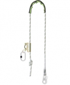Polohovacie polyamidové lano s priemerom 12 mm, dĺžka lana - 2 m, nastaviteľná dĺžka od 0,85 - 1,35 m, nastavovacie zariadenie dĺžky lana z ľahkej zliatiny,
