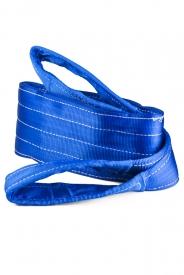 Zdvíhací popruh 8 T - Dvojvrstvový, Zdvíhací pás oko-oko, Modrý, Certifikovaný