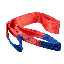 Zdvíhací popruh 5000 kg, Dvojvrstvový, Zdvíhací pás oko-oko, Červený, Certifikovaný, B2