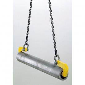 Manipulačné háky TRO s nosnosťou od 2 000 kg - 10 000 kg sa používajú v pároch na bezpečnú prepravu rúr. Pre potrubia s jemným povrchom sú dostupné háky s plastovým povlakom. Závesný strmeň je dodávaný ako súčasť háku.
