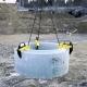 Zvierka na prepravu betónových skruží BTG s nosnosťou od 1 500 kg do 3 000 kg.