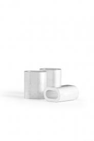 Objímka lanová lisovacia DIN 3093 (lanová, hliníková svorka, ferule) v rozmeroch od 1 mm do 22 mm.