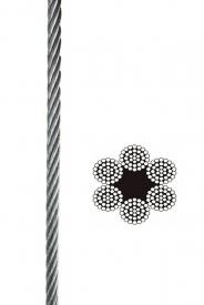 Oceľové lano 6x37+FC pozinkované, DIN 3066