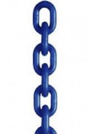 Vysokopevnostná reťaz, modrej farby, trieda oceli 10 je vhodná pre všetky typy reťazových závesov. Je špeciálne navrhnutá pre zdvíhanie ťažkých bremien, vďaka svojej vysokej pevnosti v ťahu a odolnosť proti opotrebeniu, m