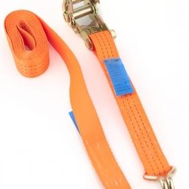 Gurtna 3T - Upínací pás s račňou dvojdielny s hrotovými hákmi