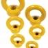 Závesná matica pevnostná DIN 582 8.8 v pevnostnej triede 8. Sú dostupné v nosnostiach od 400 kg do 12 000 kg, dodávané v červenej alebo žltej povrchovej úprave,