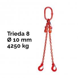 Reťazový, oko-2 hák, skracovač, Nosnosť 4250/3150 kg, G8-10, Certifikát