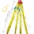 Štvor záves textilný, oko-4 hák,Nosnosť 6300/4500 kg, Certifikovaný