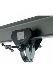 Závesné zariadenie s pojazdom model CTP slúžiace ako montážna pomôcka, ktorá umožňuje jednoduché zavesenie a premiestňovanie bremien s využitím stropných nosníkov.
