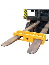 Závesný hák na vysokozdvižné vozíky. Praktické zdvíhacie zariadenie, ktoré zmení vysokozdvižný vozík na žeriav