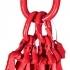 Štvor záves textilný, oko-4 x hák, Nosnosť 8400/6000 kg, Certifikovaný