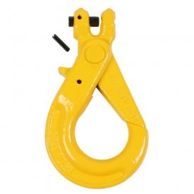 Samozaisťujúci hák s čapom a poistkou je vyrobený v pevnostnej triede 8.