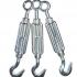 Šponovák v prevedení oko-hák je vyrobený z pozinkovanej ocele. Šponovák oko-hák má na jednej strane pravý a na druhej strane ľavý závit.