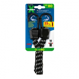 Gumové lano upínacie ploché nosnosť do 25 kg, X-Power pre vysoké zaťaženie. Vysokopevnostné, 3 x pevnejšie ako bežné laná.