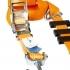 Gurtne na odťahovku 3 bodové s dĺžkou 2,5 m, Oranžové