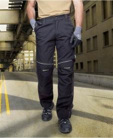 Nohavice do pása URBAN čierno-sivé