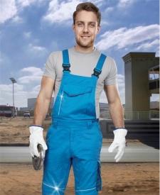 Nohavice s náprsenkou SUMMER modré