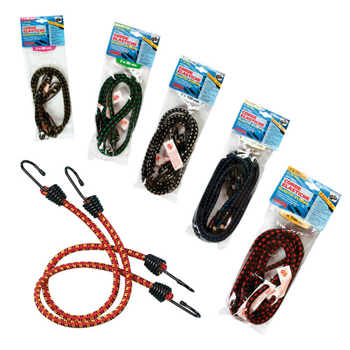 Gumové lano upínacie s háčikmi, rôzne dĺžky, TÜV/GS, Lampa